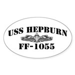 USS HEPBURN Sticker (Oval)
