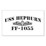 USS HEPBURN Sticker (Rectangle)