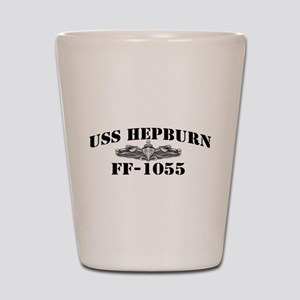 USS HEPBURN Shot Glass