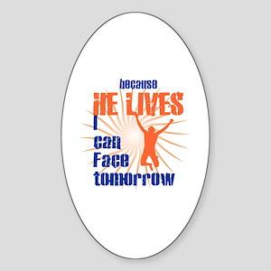 HE LIVES Sticker (Oval)