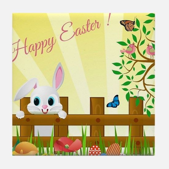 Happy Easter Bunny  Tile Coaster
