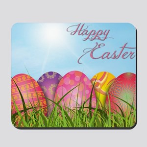 Happy Easter Decorated Eggs Mousepad