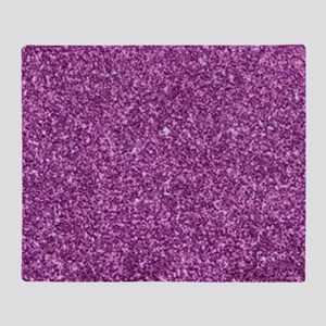 Purple Gliiter Look Throw Blanket