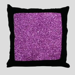 Purple Gliiter Look Throw Pillow
