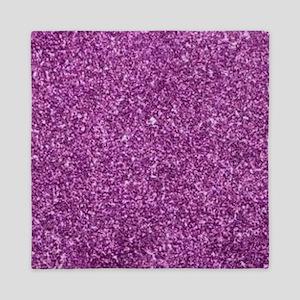 Purple Gliiter Look Queen Duvet