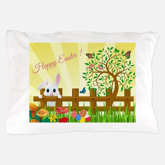 Happy Easter Bunny Pillow Case