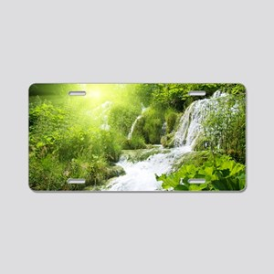 Beautiful Green Nature And Waterfall Aluminum Lice