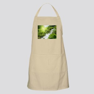 Beautiful Green Nature And Waterfall Apron
