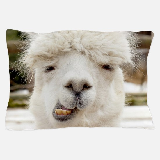 Funny Alpaca Smile Pillow Case