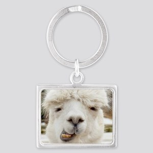 Funny Alpaca Smile Landscape Keychain