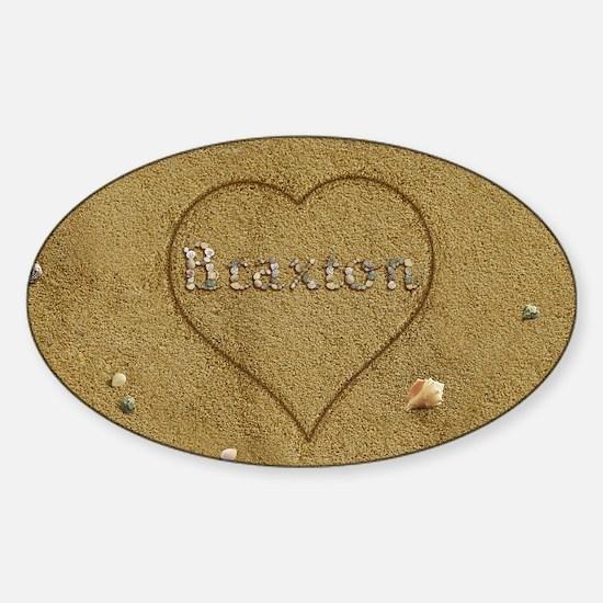 Braxton Beach Love Sticker (Oval)
