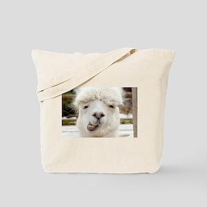 Funny Alpaca Smile Tote Bag