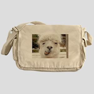 Funny Alpaca Smile Messenger Bag