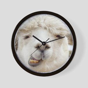 Funny Alpaca Smile Wall Clock