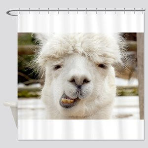 Funny Alpaca Smile Shower Curtain