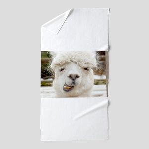Funny Alpaca Smile Beach Towel