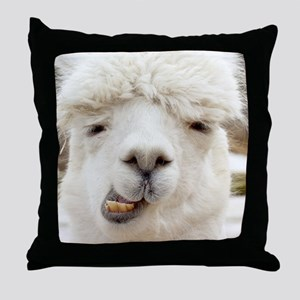 Funny Alpaca Smile Throw Pillow