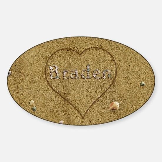Braden Beach Love Sticker (Oval)