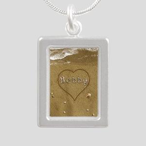 Bobby Beach Love Silver Portrait Necklace