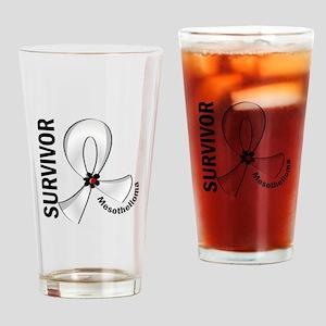 Mesothelioma Survivor 12 Drinking Glass