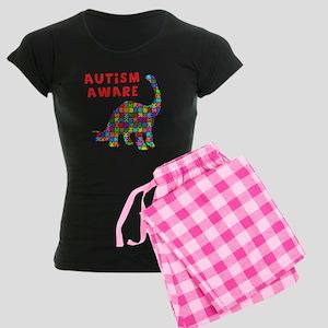 Autism Aware Dinosaur Women's Dark Pajamas