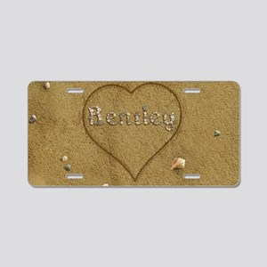 Bentley Beach Love Aluminum License Plate