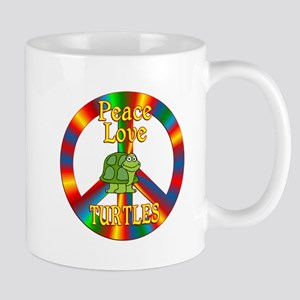 Peace Love Turtles Mug