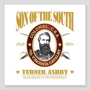 """Turner Ashby (SOTS2) Square Car Magnet 3"""" x 3"""""""