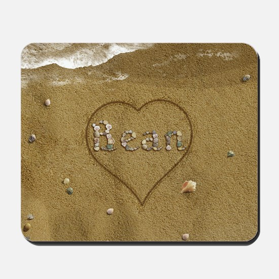 Bean Beach Love Mousepad