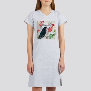 Peacock and roses Women's Nightshirt