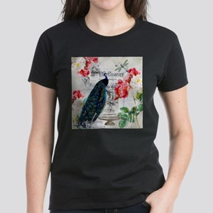 Peacock and roses T-Shirt