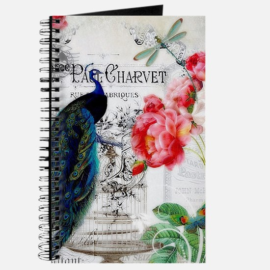 Peacock and roses Journal