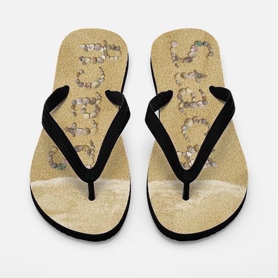 Stacy Seashells Flip Flops
