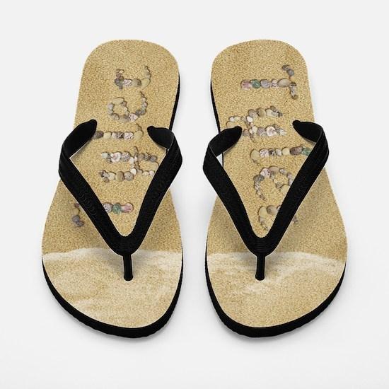 Tyler Seashells Flip Flops