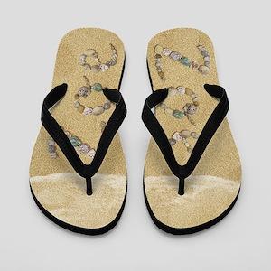 Zoe Seashells Flip Flops