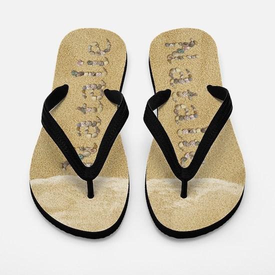 Natalie Seashells Flip Flops