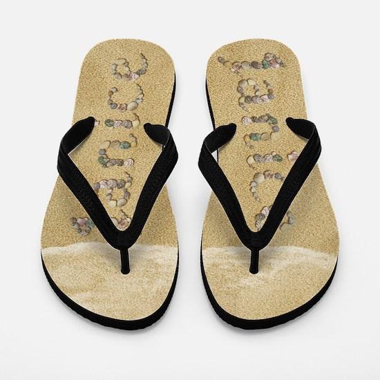 Janice Seashells Flip Flops