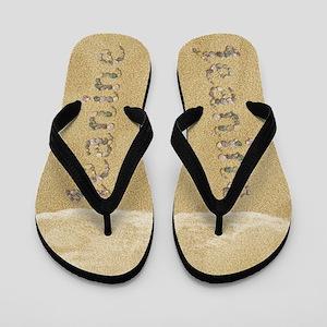 Jeanine Seashells Flip Flops