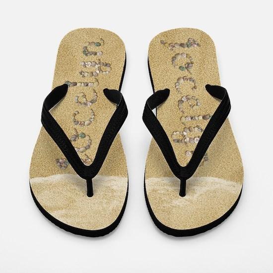 Jocelyn Seashells Flip Flops