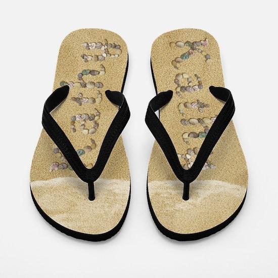 Kathy Seashells Flip Flops