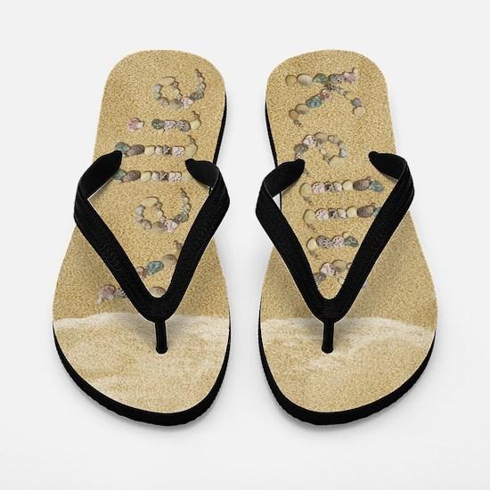 Kellie Seashells Flip Flops