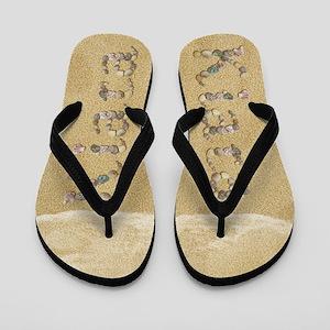 Kiara Seashells Flip Flops