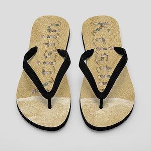 Kristin Seashells Flip Flops