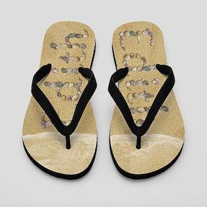 Edith Seashells Flip Flops