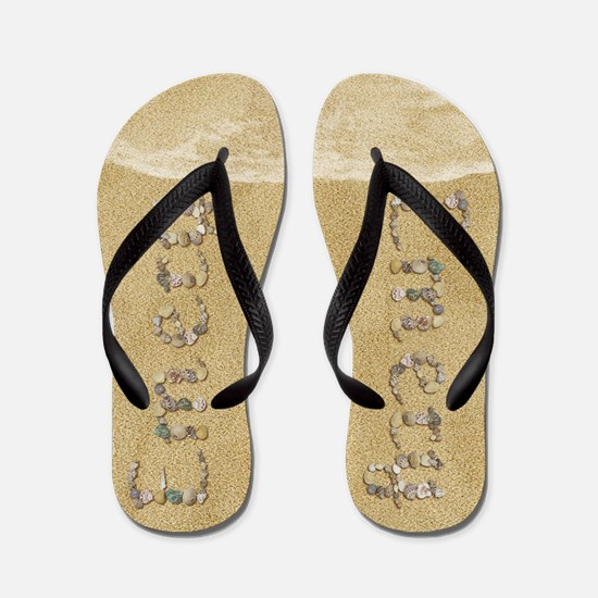 Emery Seashells Flip Flops