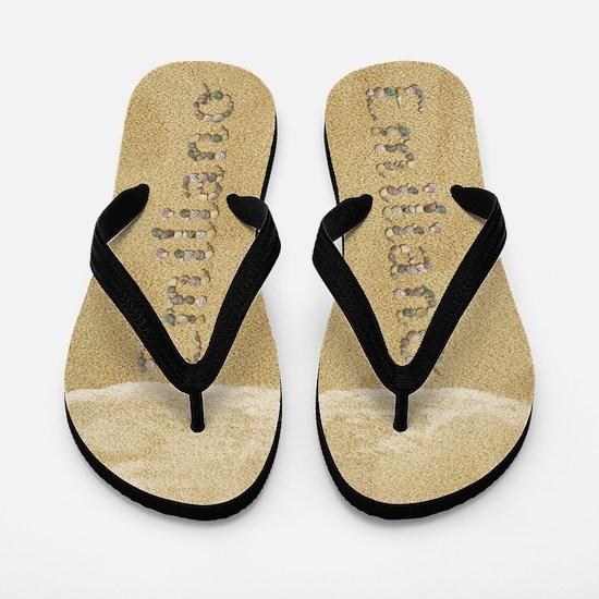 Emiliano Seashells Flip Flops