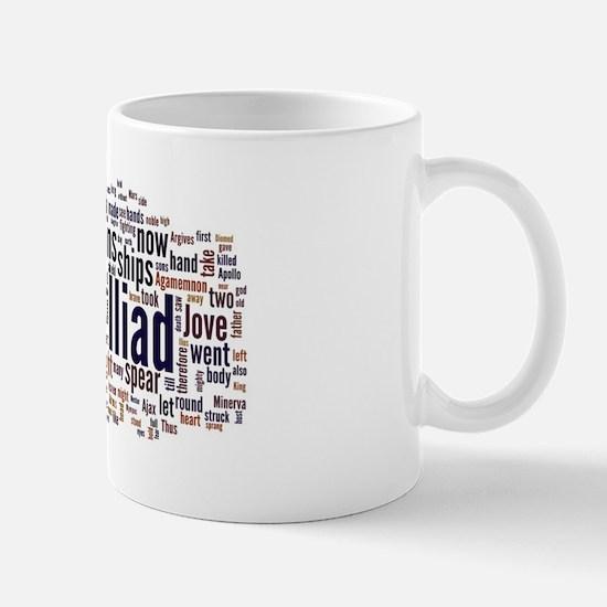 Word Art from Homer's Iliad Mug