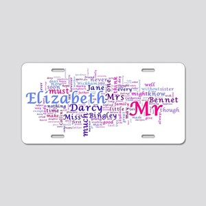 Word Art from Jane Austen's Aluminum License Plate