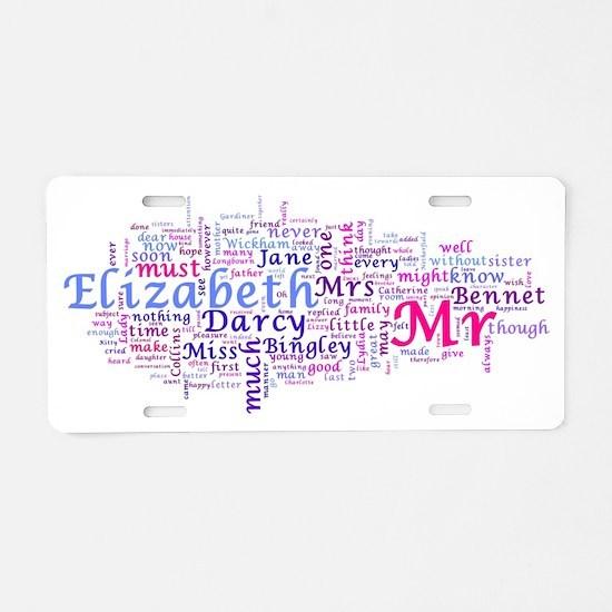 Word Art from Jane Austen's Aluminum License Plate