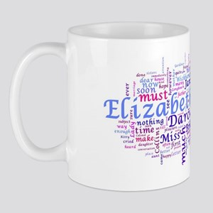 Word Art from Jane Austen's Pride and P Mug